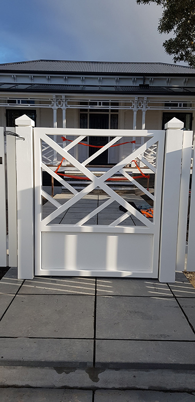 Custom designed path gate